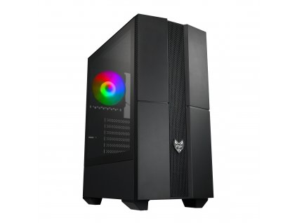 FSP/Fortron ATX Midi Tower CMT270 Black, průhledná bočnice, 1 x A. RGB LED 120 mm ventilátor