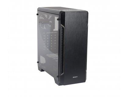 case Zalman miditower S3, ATX/mATX/Mini-ITX, bez zdroje, USB3.0, černá