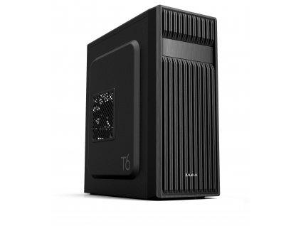 case Zalman miditower T6, mATX/ATX, bez zdroje, USB3.0, černá