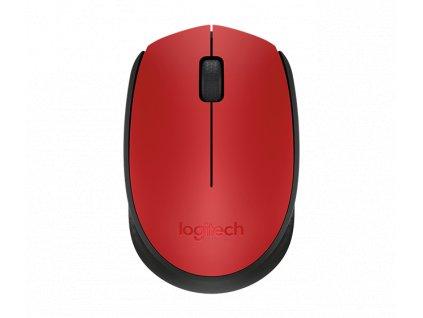 PROMO myš Logitech Wireless Mouse M171, červená