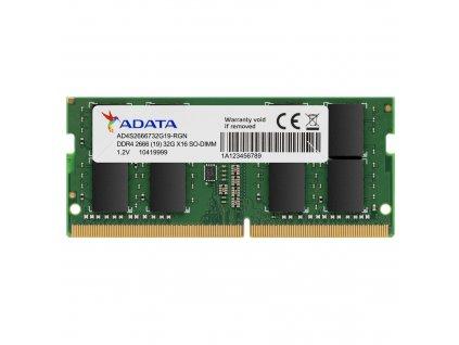 SO-DIMM 4GB DDR4-2666MHz ADATA 512x8 CL19
