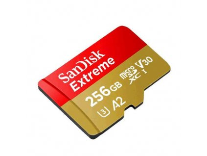 SanDisk Extreme microSDXC 256GB 160MB/s + adaptér