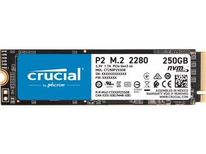 Crucial P2 250GB M.2 NVMe 2100/1150MB/s