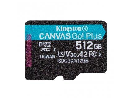 512GB microSDXC Kingston Canvas Go! Plus A2 U3 V30 170MB/s bez adapteru
