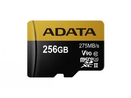 ADATA 256GB MicroSDXC UHS-II U3 s adapterem