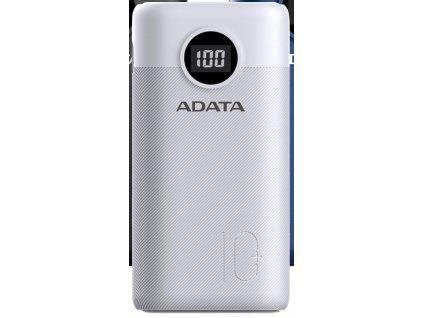 ADATA P10000QCD Power Bank 10000mAh bílá