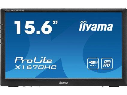 16'' iiyama X1670HC-B1: IPS, FullHD, 22cd/m2, 6ms, USB-C, černý