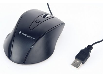 Gembird drátová myš MUS-4B-02, černá