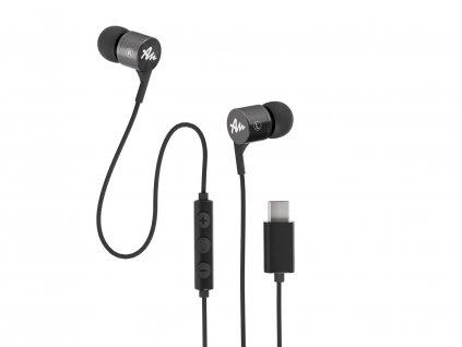 Sluchátka do uší Audictus Explorer USB-C, šedé