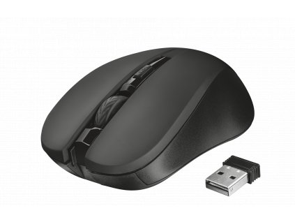 myš TRUST Mydo Silent Click Wireless Mouse - black (tichá myš)