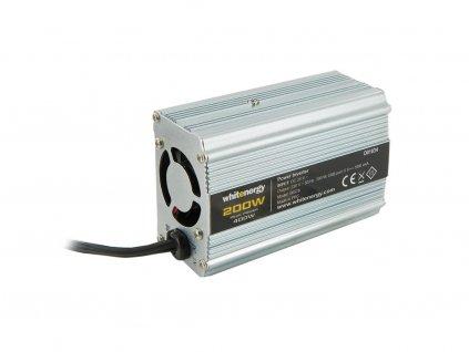 WE Měnič napětí DC/AC 24V / 230V, 200W, USB