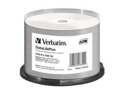 VERBATIM DVD-R (16xProfes. Print, 4,7GB), 50 cake