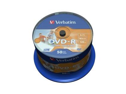 VERBATIM DVD-R(50-Pack)Cake/Print/16x/4.7GB/NoID