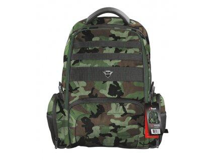 TRUST GXT 1250G Hunter Gaming Backpack pro 17.3'' laptopy, zelená kamufláž