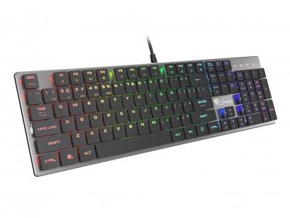 Plochá mechanická klávesnice Genesis Thor 420 RGB US, Content Slim Blue switch, software