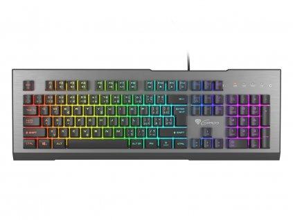 Herní klávesnice Genesis Rhod 500 RGB, CZ/SK layout, 7-zónové RGB podsvícení