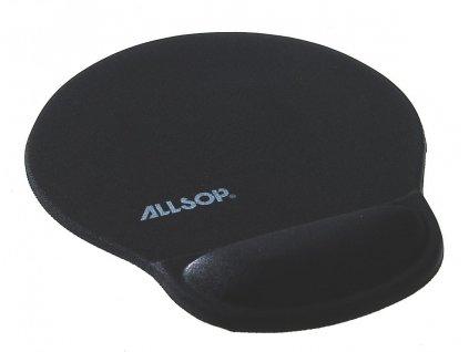 Allsop Gelová podložka pod myš černá, 20mm podpora zápěstí