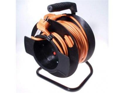PremiumCord Prodlužovací kabel 230V 50m buben, průřez vodiče 3x1,5mm2, 1x zásuvka