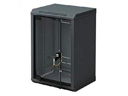 10'' rack jednodílný 4U/260 TRITON černý dveře sklo