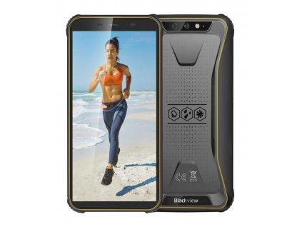 iGET Blackview GBV5500 Plus Yellow odolný telefon, 5,5'' HD+, 3GB+32GB, DualSIM, 4G, 4400mAh, NFC