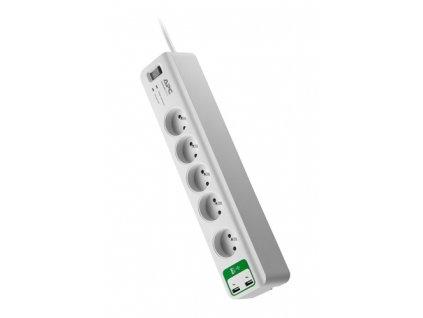 APC Essential SurgeArrest 5 outlets with 5V, 2.4A 2 port USB Charger 230V France