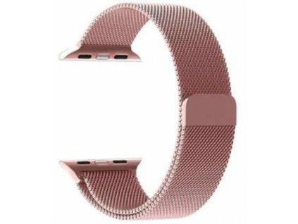 Tactical 349 Loop Magnetický Kovový Řemínek pro Apple Watch 1/2/3/4/5/6/SE 38/40mm Rose