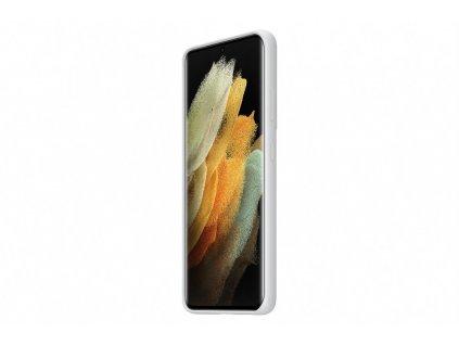 Samsung Silikonový zadní kryt pro S21 Ultra Light Gray