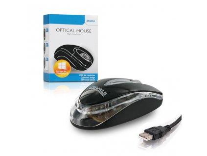 4World Myš optická Basic1 USB 1200dpi Black