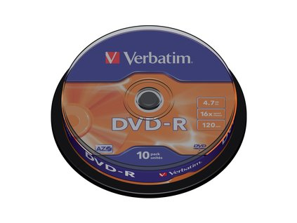 43523P DVD-R 16X 10ks cake VERBATIM