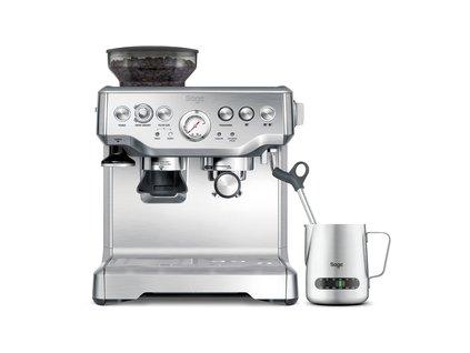 BES875BSS pákové espresso sivé SAGE