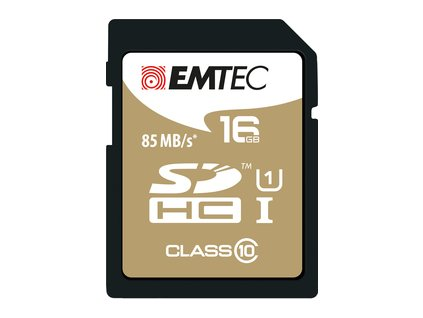 SDHC 16GB Cl10 UHS-I EliteGold EMTEC
