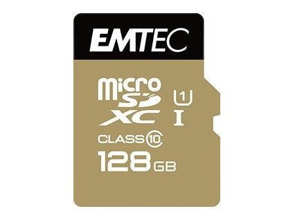 MicroSDXC 128GB Cl10 EliteGold EMTEC