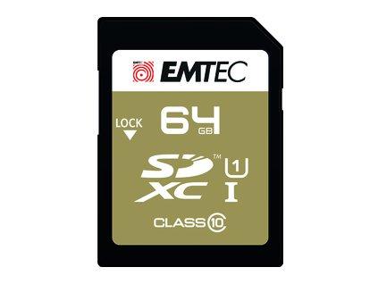 SDXC 64GB Cl10 UHS-I EliteGold EMTEC