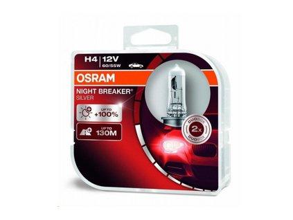 H4 NIGHT BREAKER Silver Duo box OSRAM