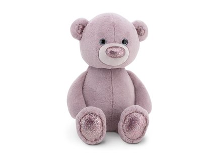 Fluffy fialový medvedík malý ORANGE TOYS