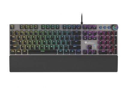 Genesis mechanická klávesnice THOR 401, US layout, RGB podsvícení, software, Kailh Brown