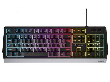 Genesis herní klávesnice RHOD 300 US layout, 7-zónové RGB podsvícení