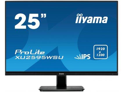 25'' iiyama XU2595WSU-B1: IPS, WUXGA (16:10)@75Hz, 300cd/m2, 4ms, VGA, HDMI, DP, USB, FreeSync, černý