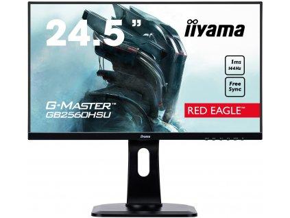 25'' iiyama G-Master GB2560HSU-B1 - TN,FullHD,1ms,400cd/m2, 1000:1,16:9,HDMI,DP,repro,pivot,výška.