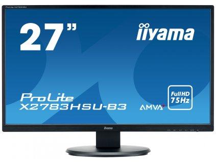 27'' LCD iiyama X2783HSU-B3 - AMVA+, 4ms, 300cd/m2, 3000:1, FullHD, VGA, DP, HDMI, USB, repro
