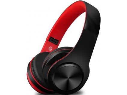 Bezdrátová sluchátka S5, černo/červené