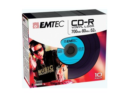 CD-R 700MB 52x Vinyl Slim 10pack EMTEC