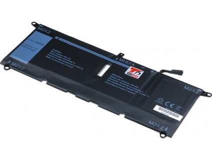 Baterie T6 power Dell XPS 13 9370, 6840mAh, 52Wh, 4cell, Li-pol