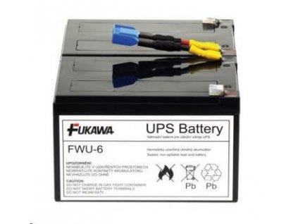 Baterie - FUKAWA FWU-6 náhradní set baterií za RBC6 (12V/12Ah, Faston 250, 2ks), životnost 3-5let