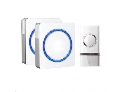 Solight 2x bezdrátový zvonek, do zásuvky, 120m, bílý