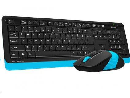 A4tech FG1010 FSTYLER set bezdr. klávesnice + myši, modrá barva