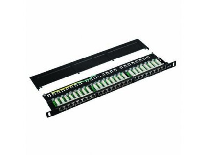 DATACOM Patch panel 19'' STP 24 port CAT6 LSA 0,5U