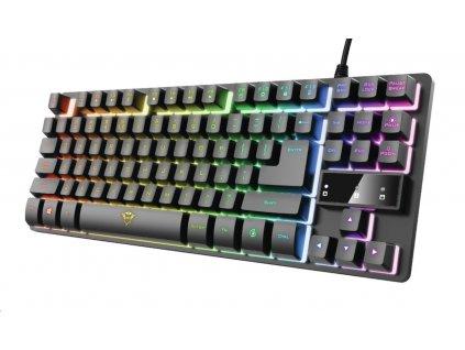 TRUST herní klávesnice GXT833 THADO, membránová, USB, US