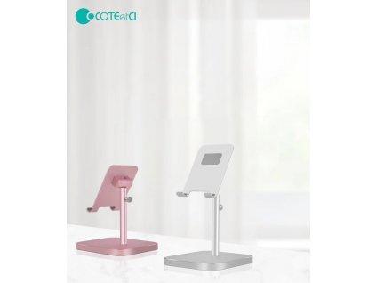 COTEetCI hliníkový podstavec SD-18 pro mobilní telefony/tablety růžovo-zlatý