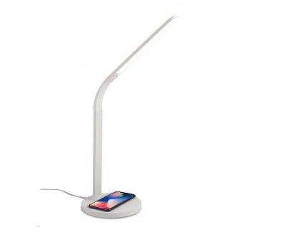 Celly stolní LED lampa s bezdrátovým nabíjením, bílá